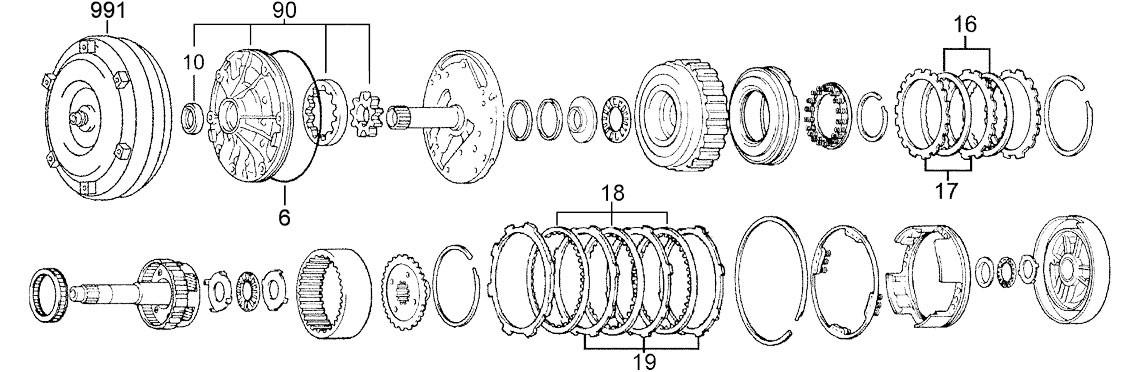 Car & Truck Automatic Transmissions & Parts Motors A340H 1987-2001 ...